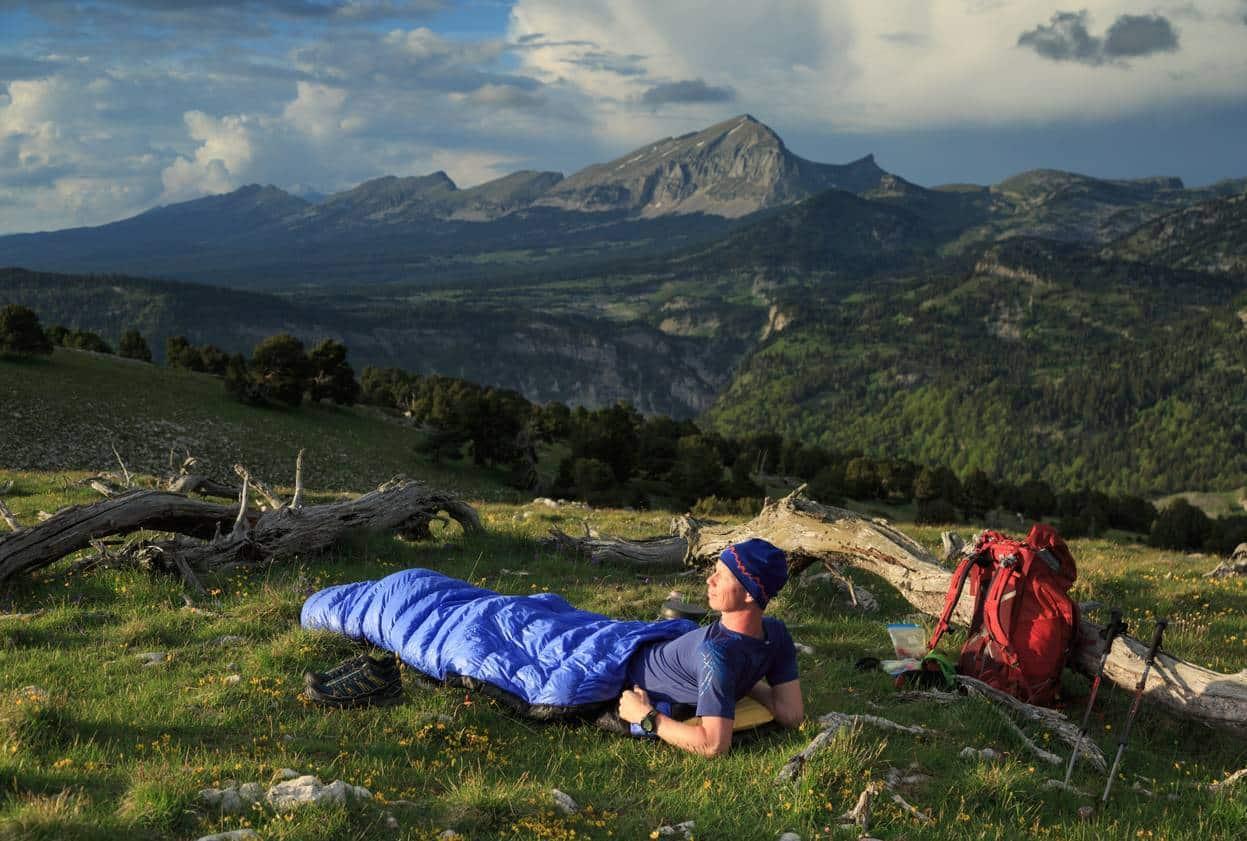 sac de couchage randonnée montagne